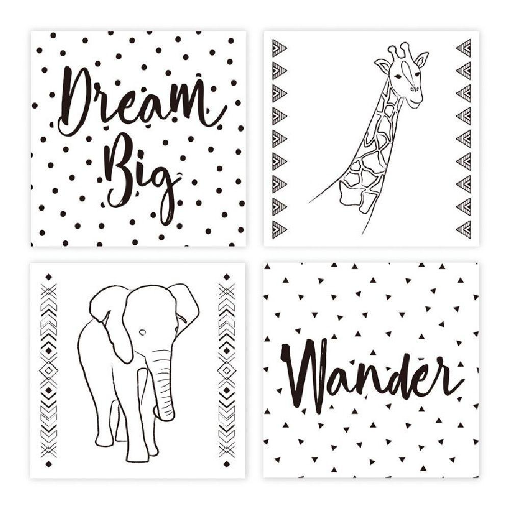 The Peanut Shell Art Prints Dream Big 4 Pack