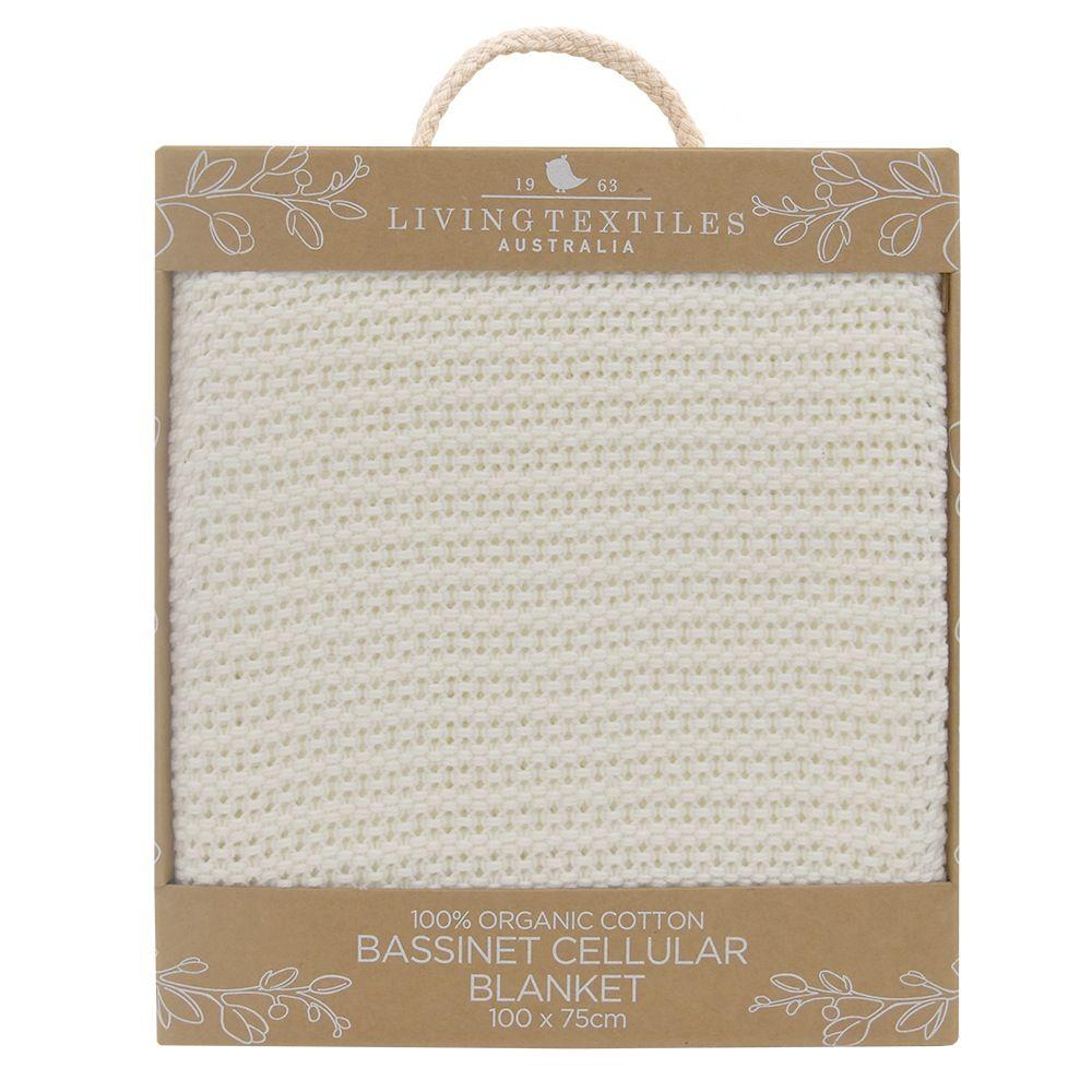 Living Textiles Organic Cell Blanket Bassinet/Cradle Natural image 2