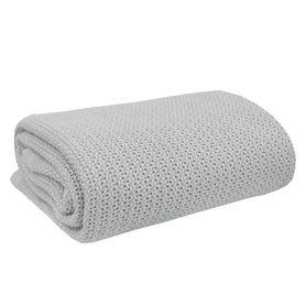Living Textiles Organic Cell Blanket Bassinet/Cradle Grey