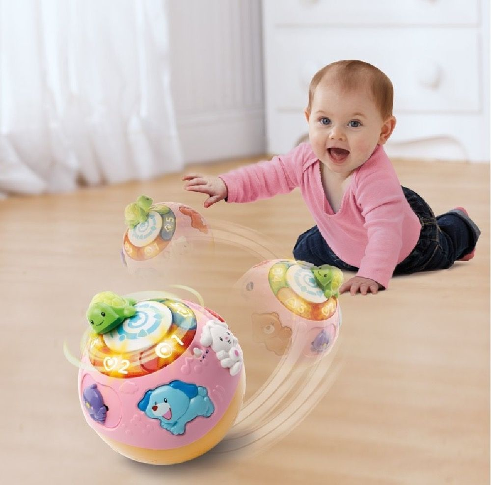 Vtech Baby Crawl & Learn Bright Lights Ball Pink image 3