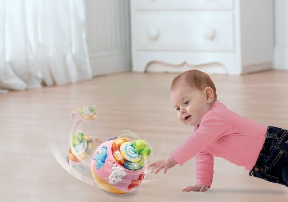 Vtech Baby Crawl & Learn Bright Lights Ball Pink image 4