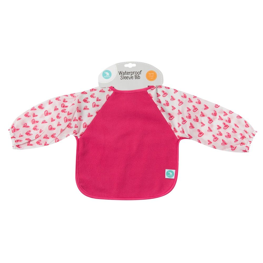 All4Ella Long Sleeve Bib Heart Pink
