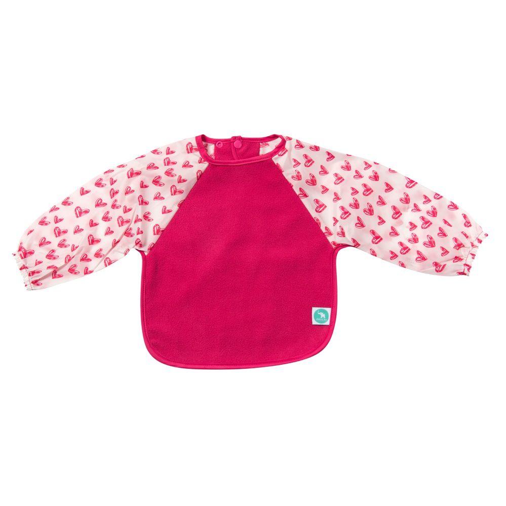 All4Ella Long Sleeve Bib Heart Pink image 1