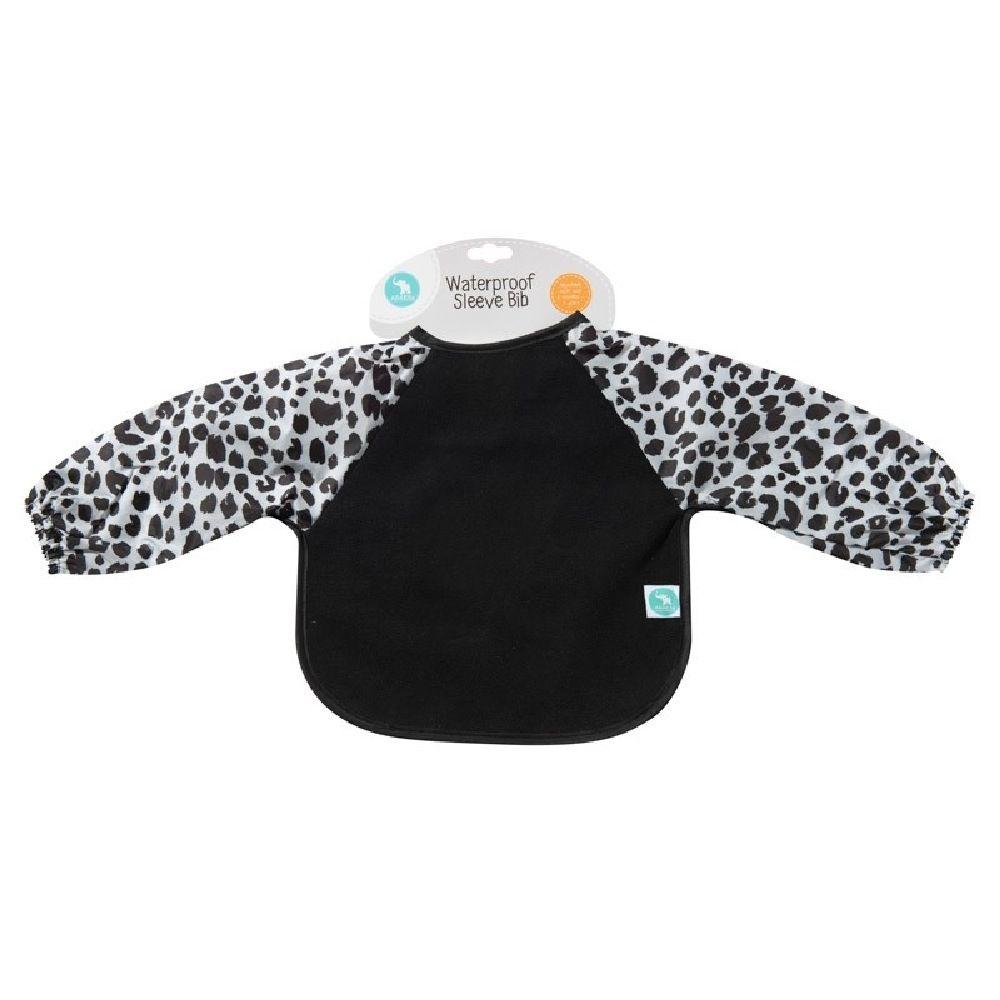 All4Ella Long Sleeve Bib Leopard Black