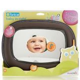 Brica Baby In Sight Soft-Touch Auto Mirror - Grey image 1