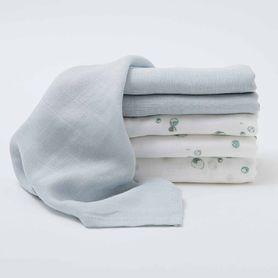 Little Bamboo Muslin Wash Cloth Whisper 6 Pack