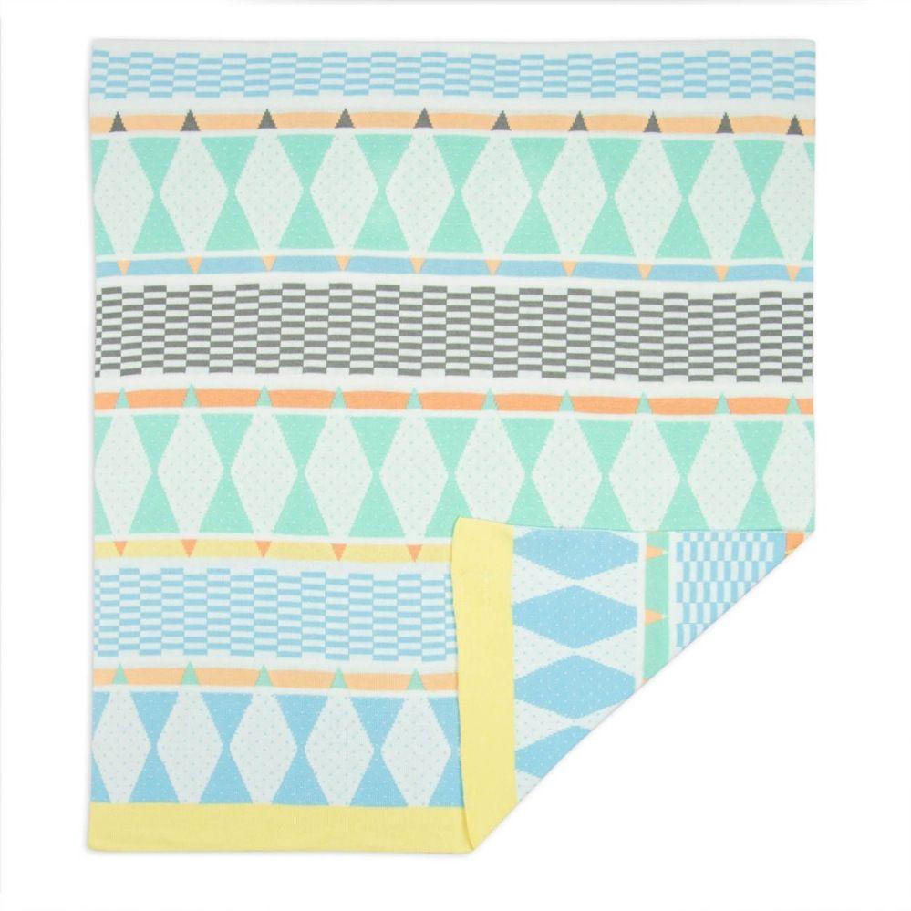 Weegoamigo Bestee Knit Blanket Harlequin image 2