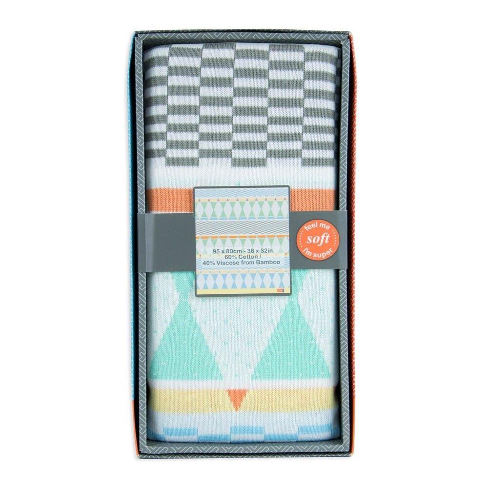 Weegoamigo Bestee Knit Blanket Harlequin image 3