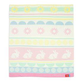 Weegoamigo Bestee Knit Blanket Poppy