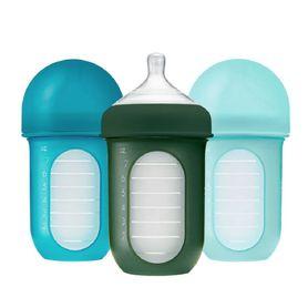 Boon Nursh Bottle 236ml Blue 3 Pack