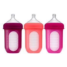 Boon Nursh Bottle 236ml Pink 3 Pack