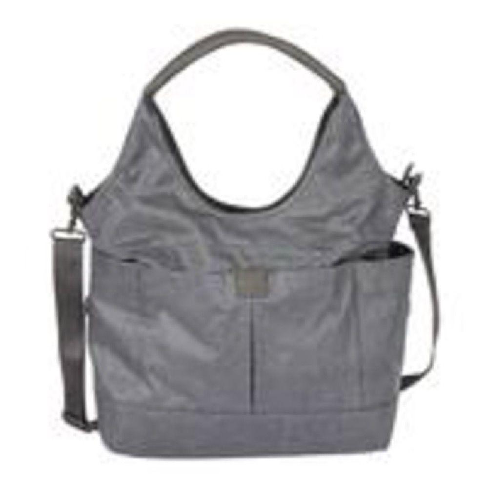 OIOI Slouch Bucket Tote Nappy Bag Grey Denim image 0