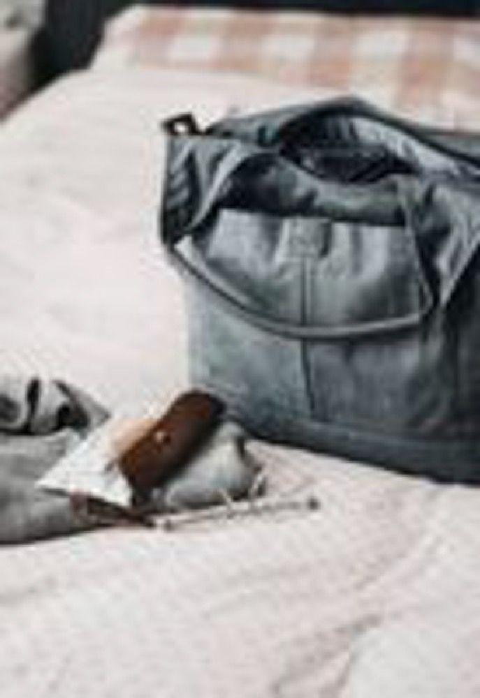 OIOI Slouch Bucket Tote Nappy Bag Grey Denim image 1