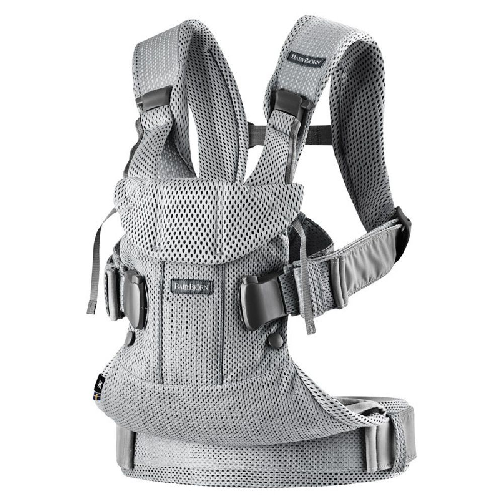 BabyBjorn Baby Carrier One Air Silver Mesh image 0