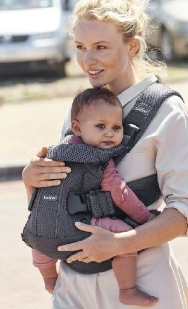 BabyBjorn Baby Carrier One Air Anthracite Mesh image 3