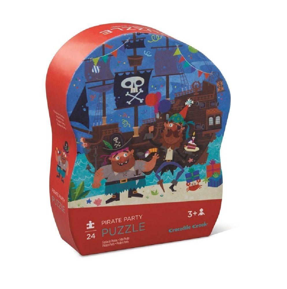 Crocodile Creek 24 Piece Mini Puzzle Pirate Party image 1