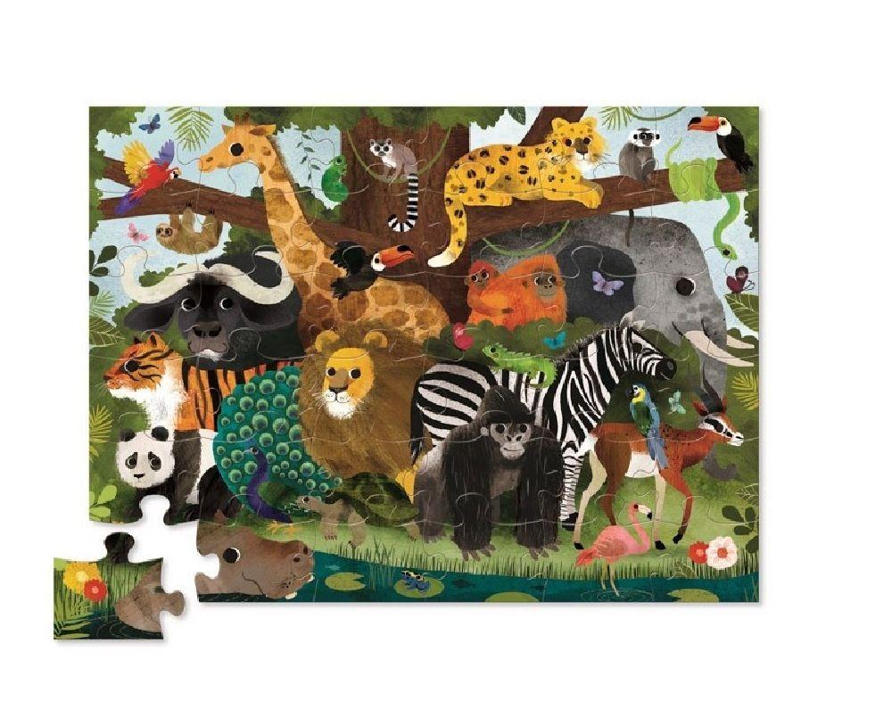 Crocodile Creek 36 Piece Floor Puzzle Jungle Friends image 1