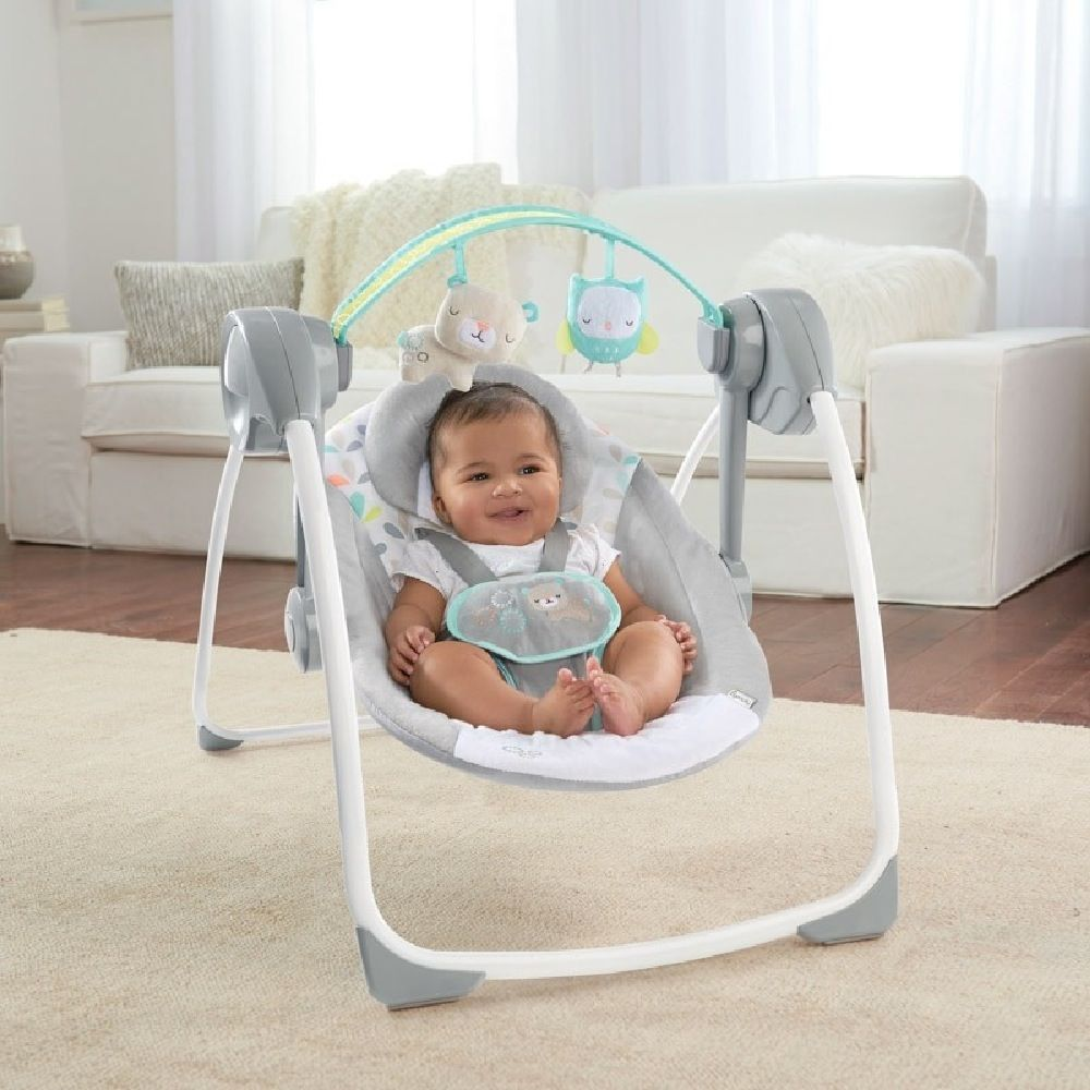 Ingenuity Comfort 2 Go Portable Swing Fanciful Forest image 4