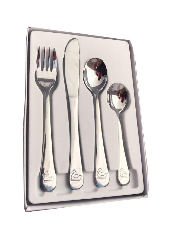 Memories 4 Piece Set Cutlery Set Stainless Steel Duck