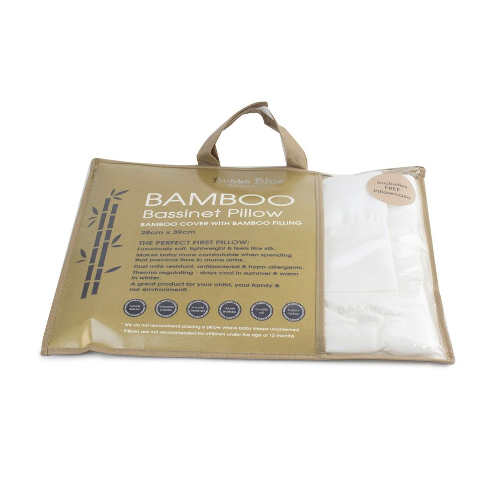 Bubba Blue Bamboo Bassinet Pillow White image 1