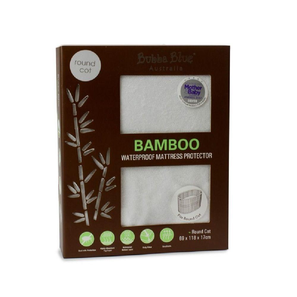Bubba Blue Bamboo Mattress Protector Round Cot image 0