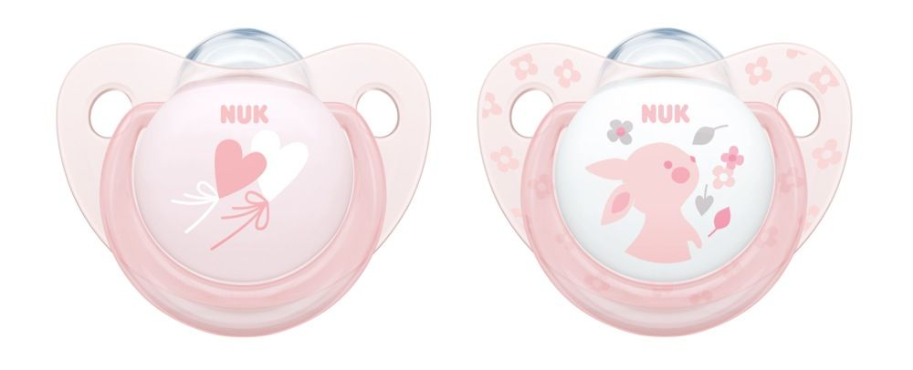 NUK Soother - Baby Rose - 6-18 Months - 2 Pack