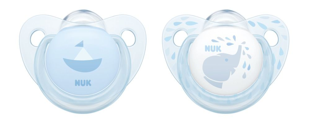 NUK Soother - Baby Blue - 6-18 Months - 2 Pack