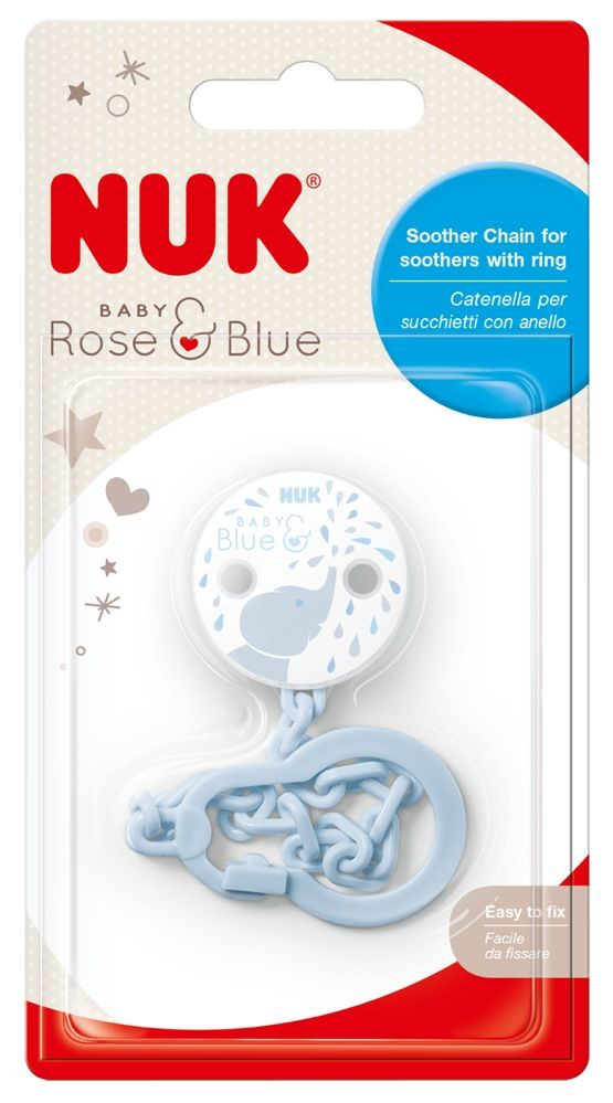 NUK Soother Chain - Baby Blue image 0