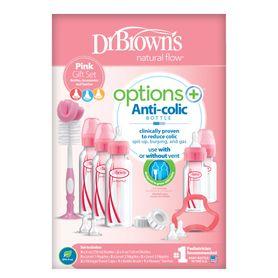 Dr Browns Options+ Bottle Narrow Neck Gift Set Pink
