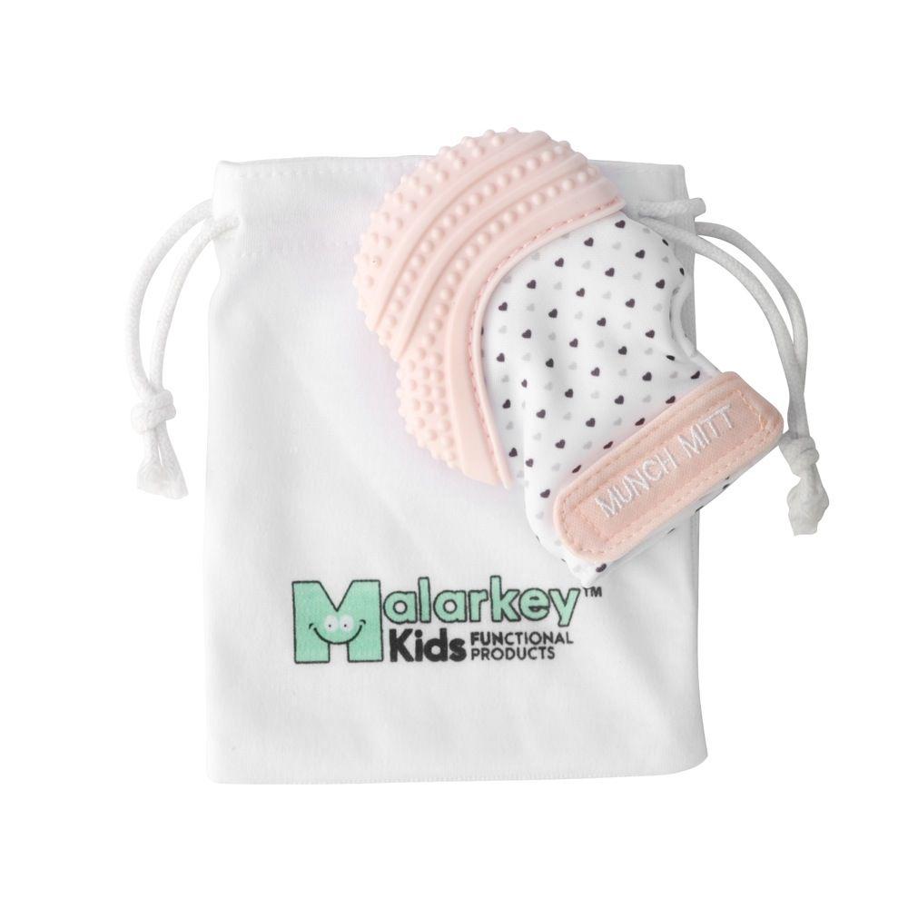 Malarkey Munch Mitt Teething Mitten Pink image 1