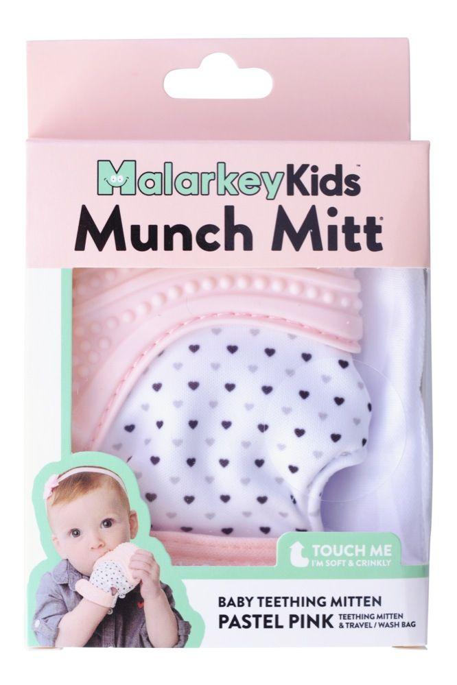 Malarkey Munch Mitt Teething Mitten Pink image 3