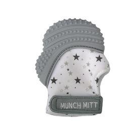 Malarkey Munch Mitt Teething Mitten Grey Stars