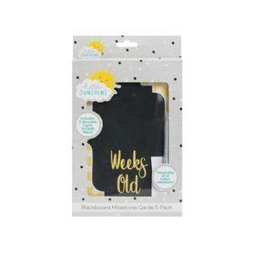 Hello Sunshine Chalkboard Milestone Cards
