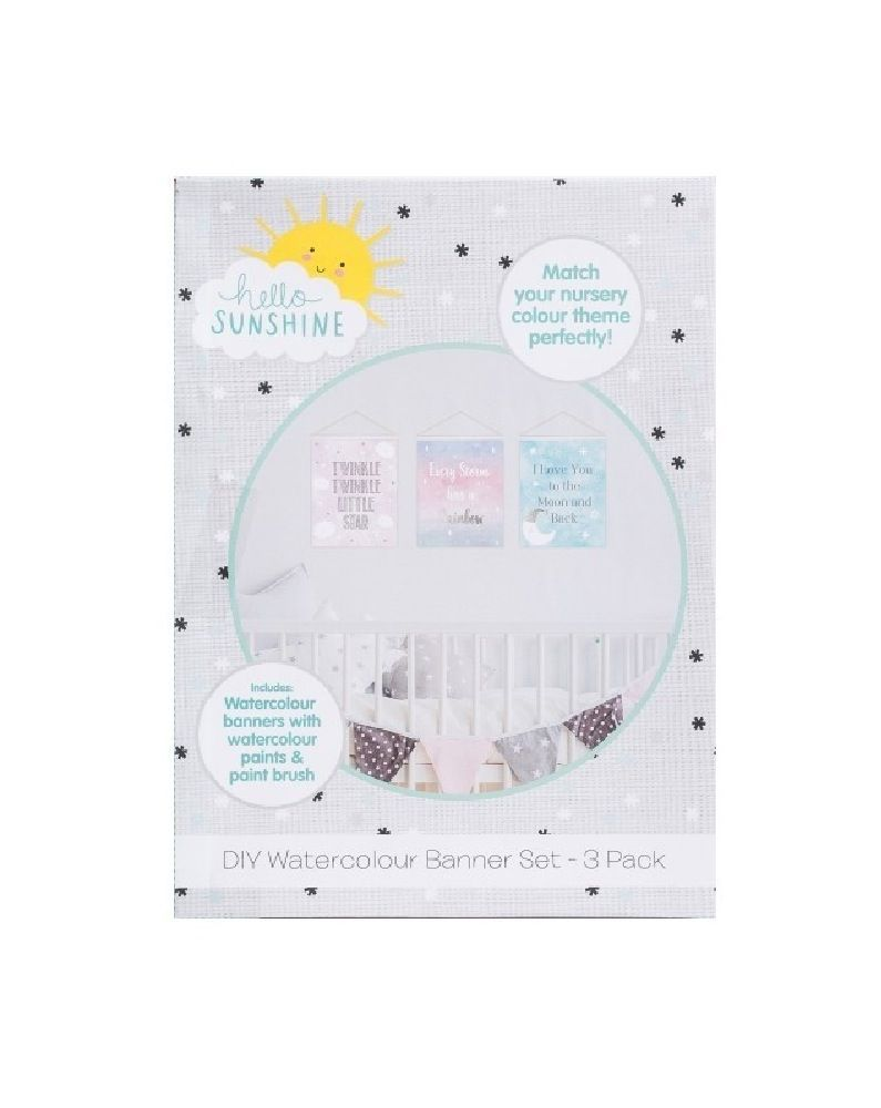 Hello Sunshine DIY Watercolour Banner Set