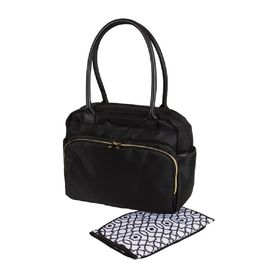 Baby Essentials Nappy Bag Black with Gold Zipper