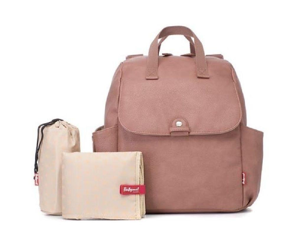 Babymel Backpack Nappy Bag Robyn Pink Faux Leather image 0