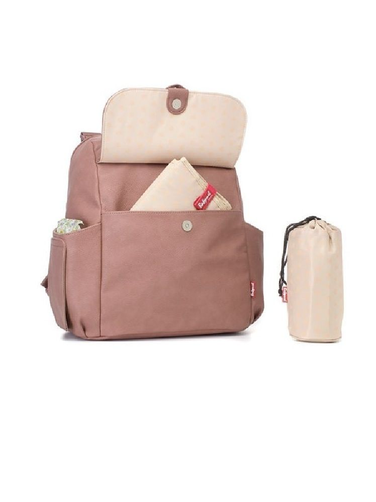Babymel Backpack Nappy Bag Robyn Pink Faux Leather image 1