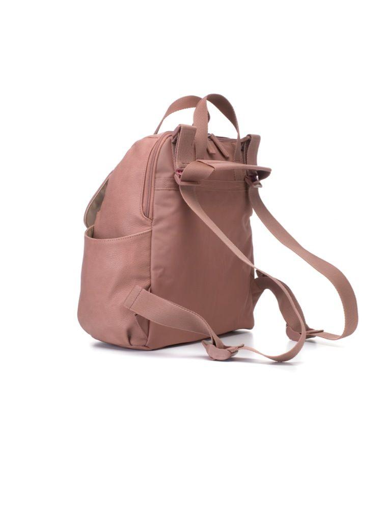 Babymel Backpack Nappy Bag Robyn Pink Faux Leather image 4