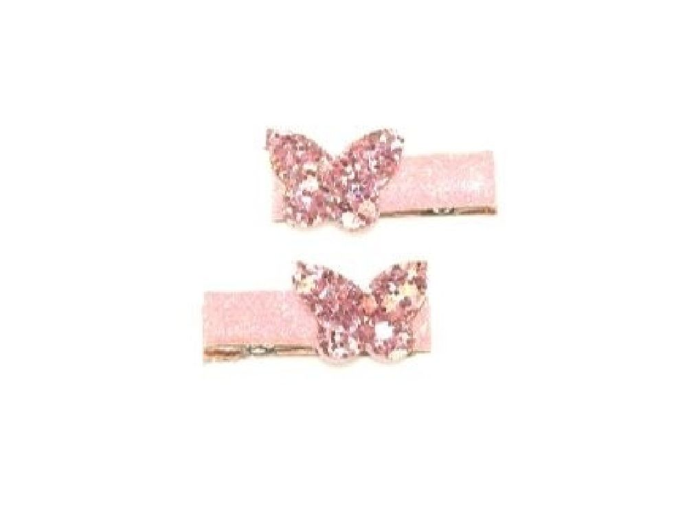 4Baby Butterfly Glitter Clips Pink Osfa image 0