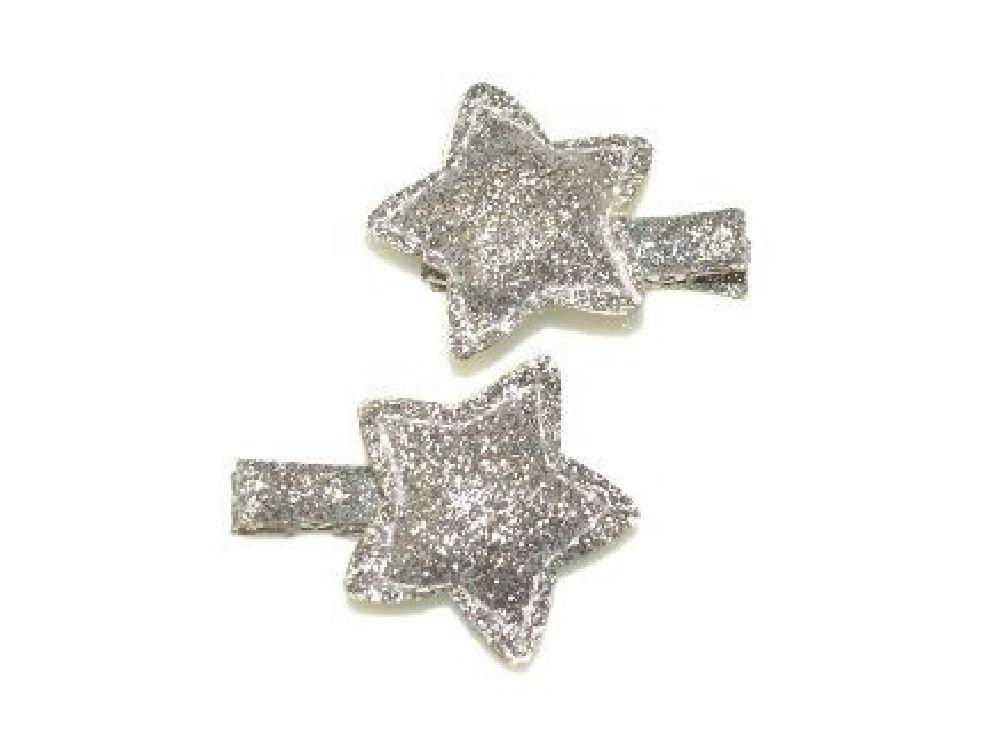 4Baby Star Glitter Clips Silver Osfa image 0