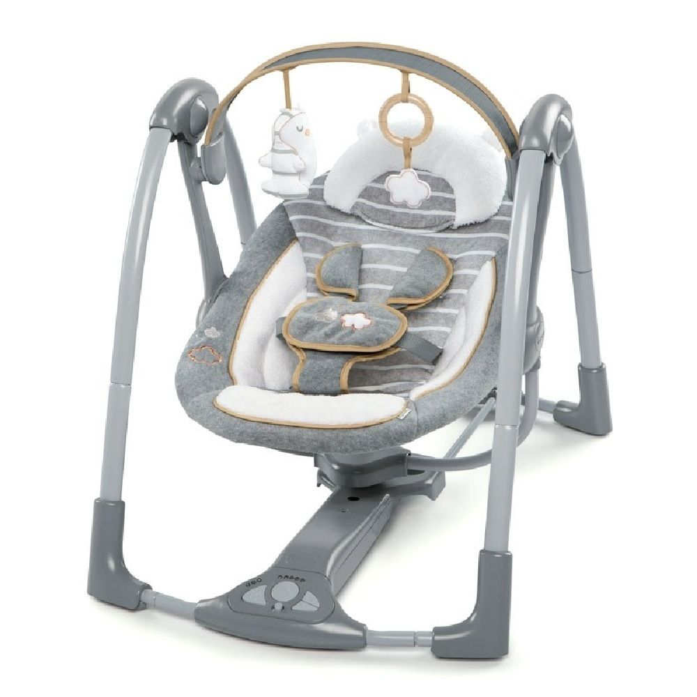Ingenuity Boutique Collection Swing N Go Portable Swing Bella Teddy image 0