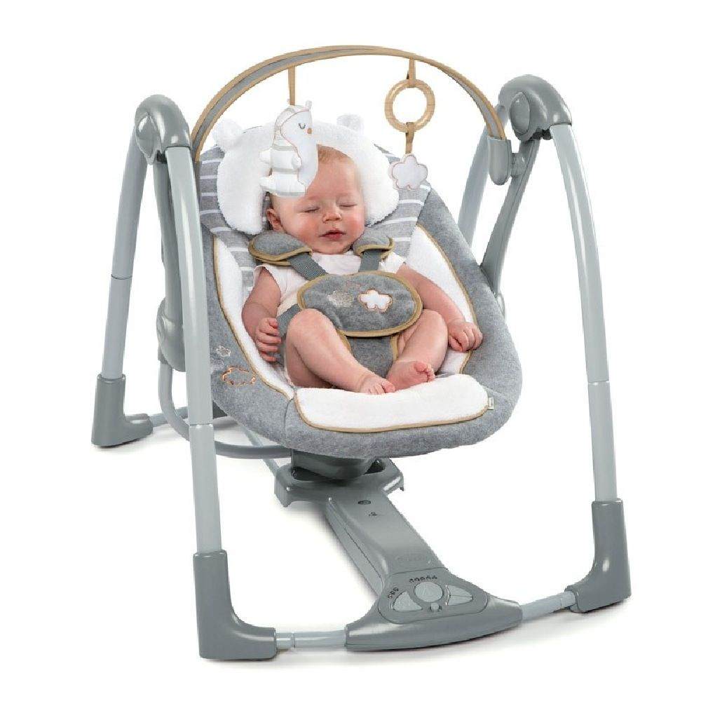Ingenuity Boutique Collection Swing N Go Portable Swing Bella Teddy image 3