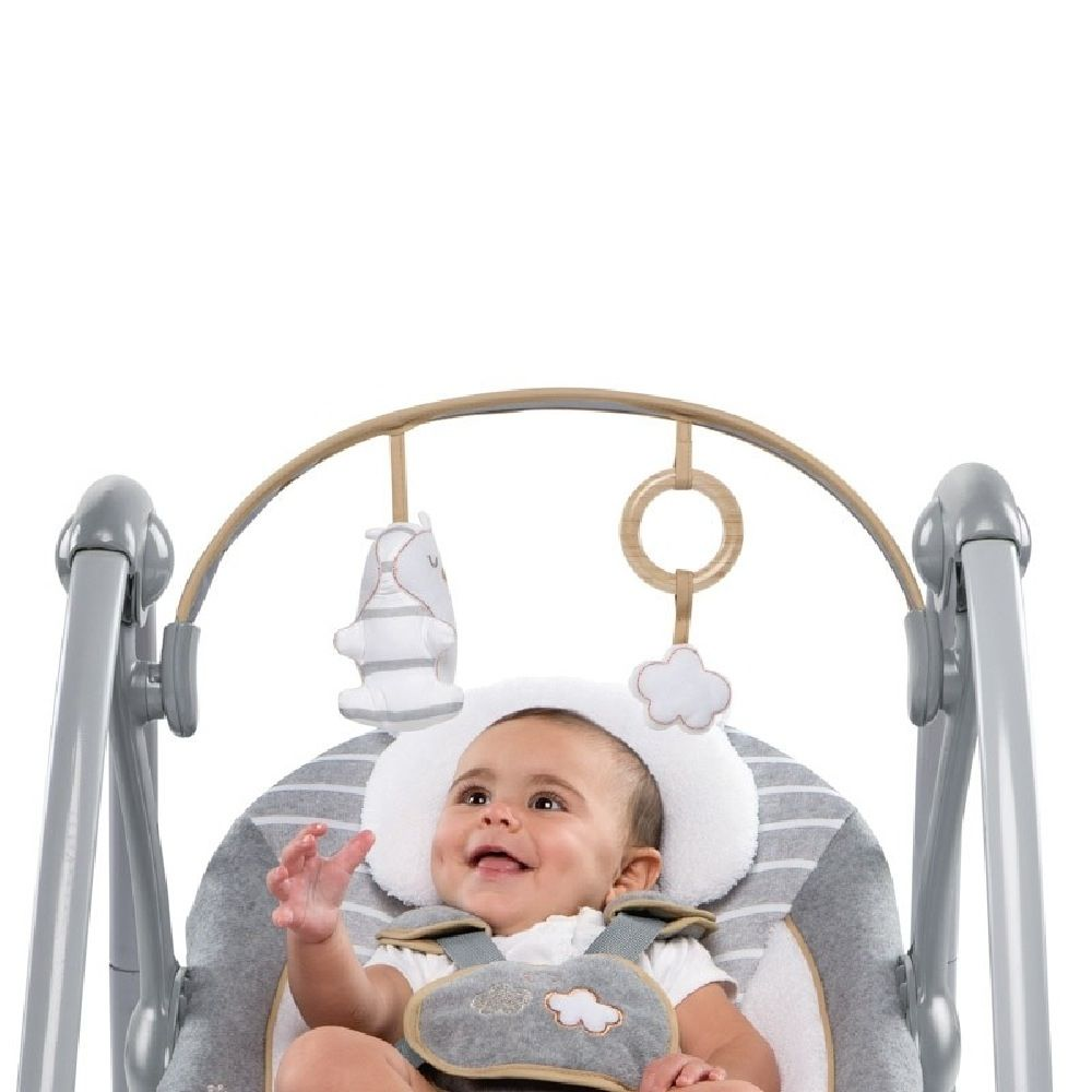 Ingenuity Boutique Collection Swing N Go Portable Swing Bella Teddy image 6