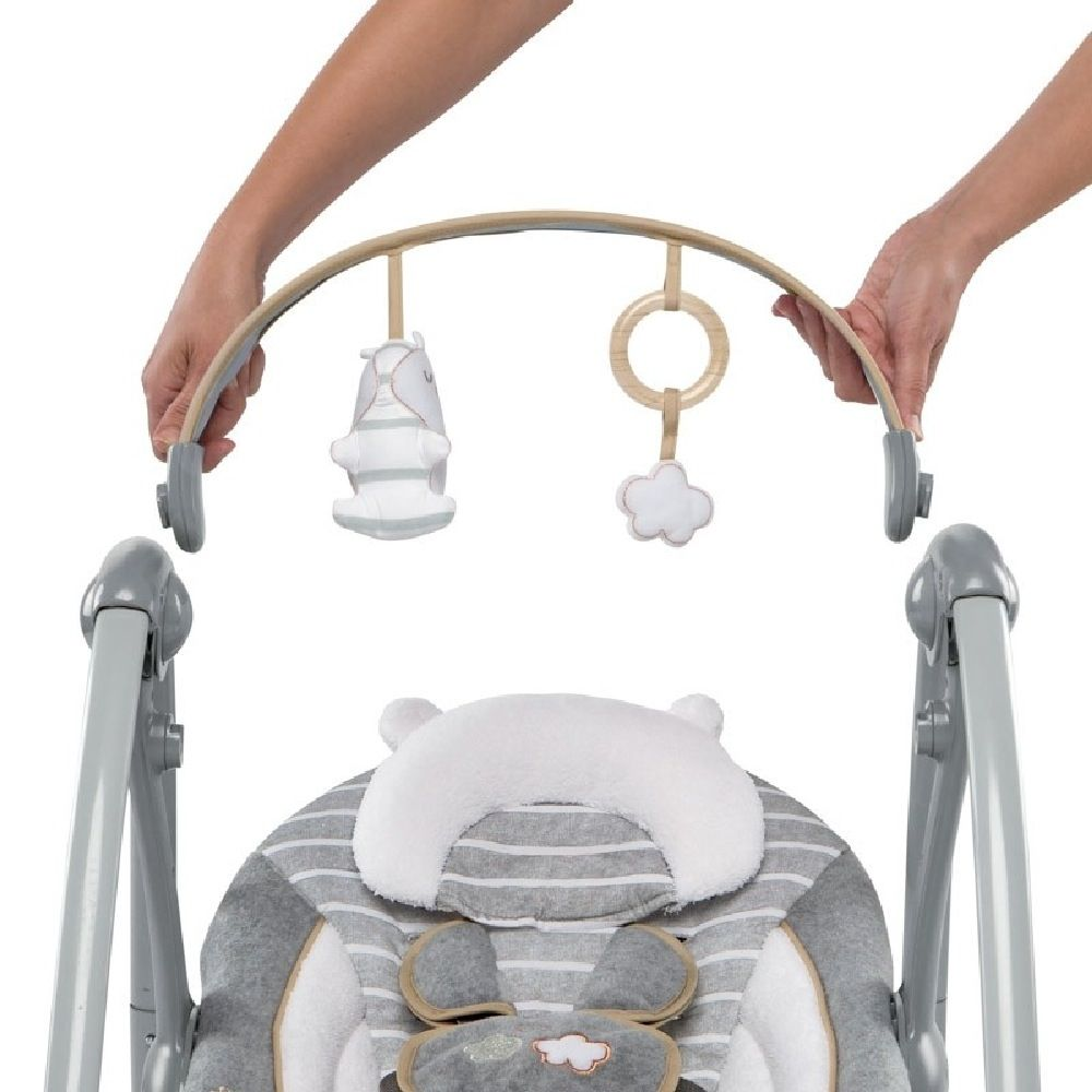 Ingenuity Boutique Collection Swing N Go Portable Swing Bella Teddy image 7
