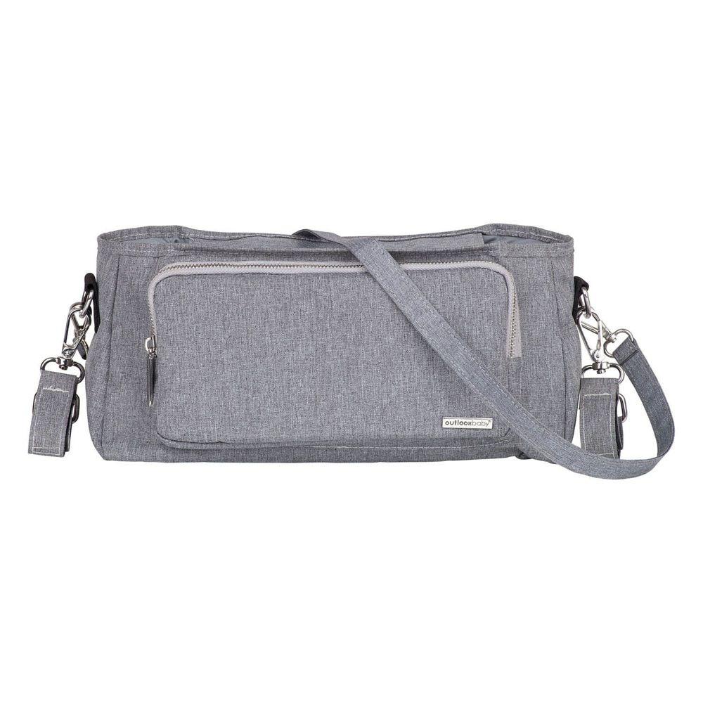 Outlook Baby Pram Caddy With Shoulder Strap Grey Melange image 0