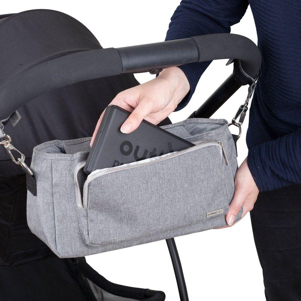 Outlook Baby Pram Caddy With Shoulder Strap Grey Melange image 11