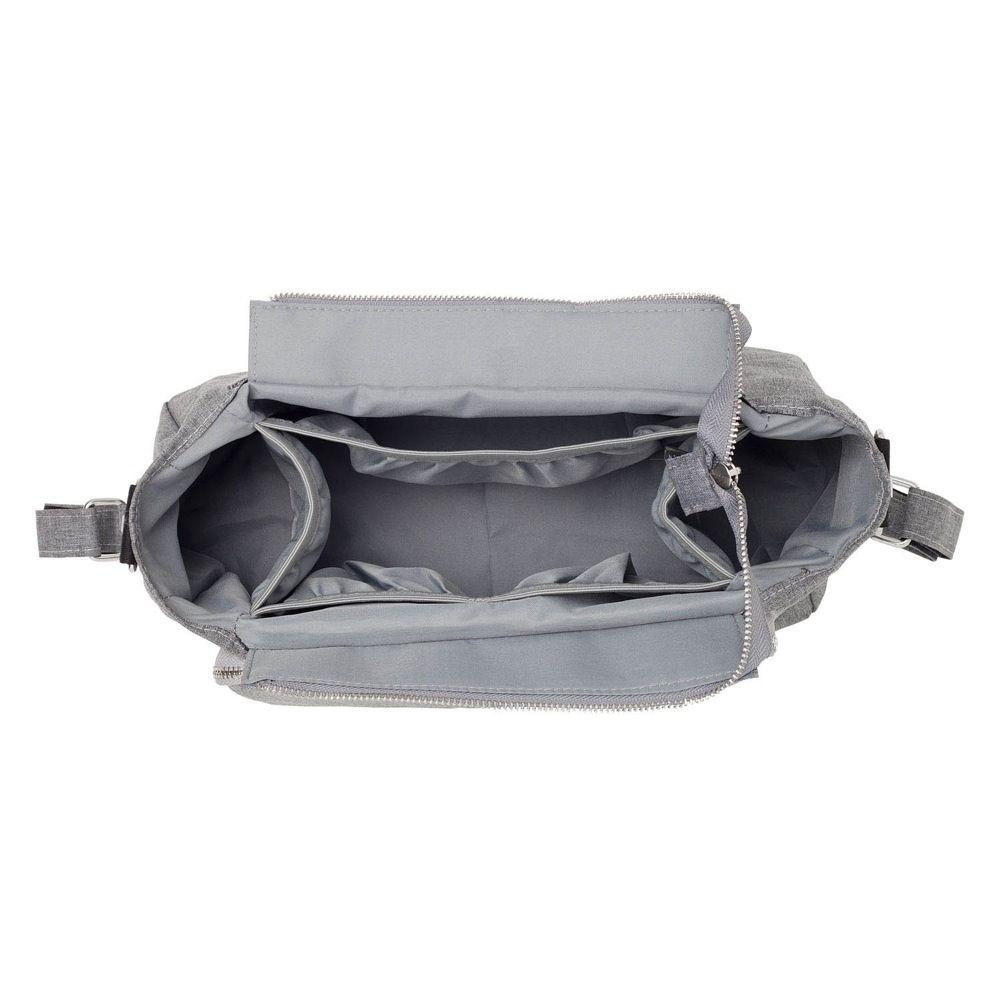 Outlook Baby Pram Caddy With Shoulder Strap Grey Melange image 1
