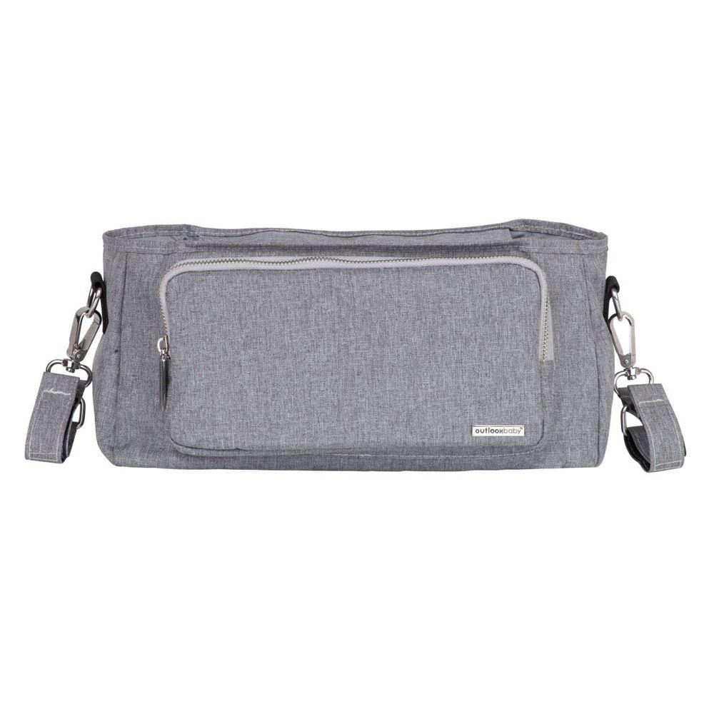 Outlook Baby Pram Caddy With Shoulder Strap Grey Melange image 2