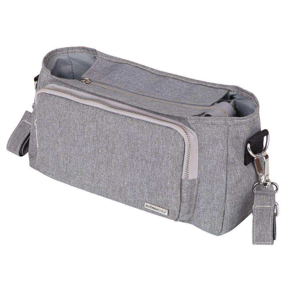 Outlook Baby Pram Caddy With Shoulder Strap Grey Melange image 4