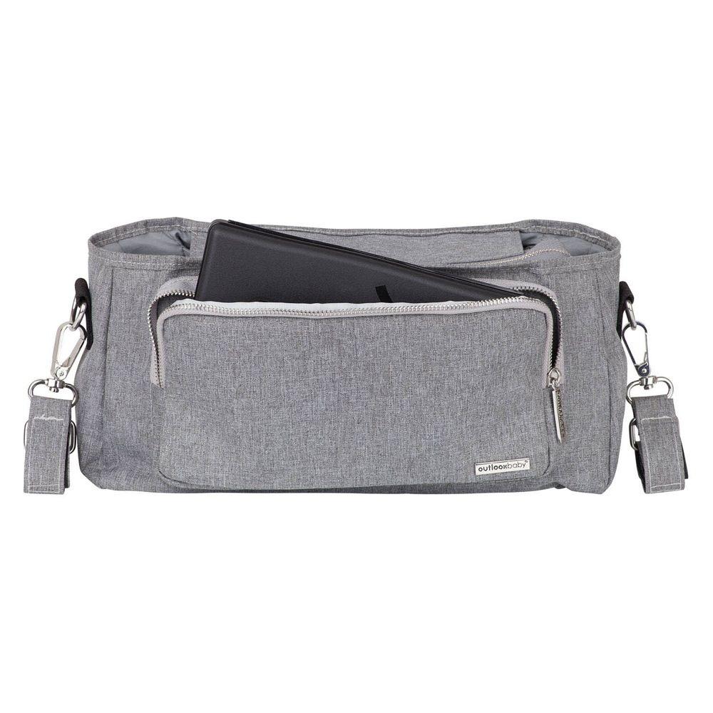 Outlook Baby Pram Caddy With Shoulder Strap Grey Melange image 5